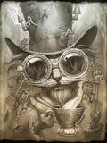 Steampunk Cat Giclée-Druck von Jeff Haynie