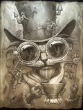 Steampunk Cat Giclee Print by Jeff Haynie