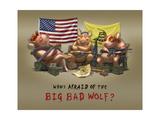 Who's Afraid of the Big Bad Wolf Giclée-Druck von Jason Bullard