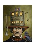 Edgar Allan Poe Giclee Print by Leah Saulnier