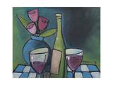 Wine and Flower Reproduction procédé giclée par Tim Nyberg