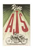 Ajs Motorcycle Giclée-vedos tekijänä  Vintage Apple Collection