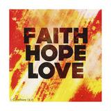 Faith Hope Love II Giclée-Druck von Vintage Skies