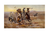 Charles Marion Russell - Souix Blackfeet Giclee Print by  Vintage Apple Collection