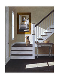 Droste and Dog on Stairs Giclee Print by Zhen-Huan Lu