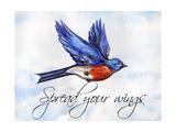 Bird Inspiration I Lámina giclée por  Irina Trzaskos Studio