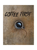 Coffee First Lámina giclée por Tina Lavoie