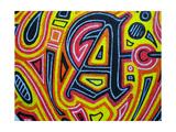 A Giclee-trykk av  Abstract Graffiti