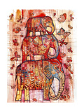 Three Elephants Giclée-vedos tekijänä Oxana Zaika