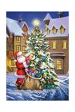 Santa Giclee Print by  Art House Design
