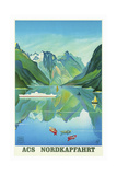 Travel Ship 0123 Giclee Print by Vintage Lavoie