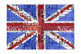 UK Flag License Plate Reproduction procédé giclée par  Design Turnpike