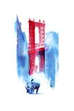 Manhattan Bridge Giclée-tryk af Robert Farkas