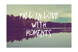 Fall in Love with Moments Stampa giclée di Vintage Skies