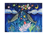 Stargazing Narwhals Reproduction procédé giclée par  Wyanne