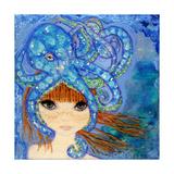 Big Eyed Girl Ocean Blue Reproduction procédé giclée par  Wyanne
