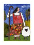 Big Diva Bo Peep and Sheep Reproduction procédé giclée par  Wyanne