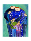 Three Boys and a Girl Family Big Diva Giclee Print by  Wyanne