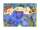 Big Diva Mermaid Wine Club Reproduction procédé giclée par  Wyanne