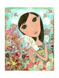 Big Eyed Bunny Girl Reproduction procédé giclée par  Wyanne