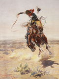 Charles Marion Russell - a Bad Hoss Giclée-Druck von  Vintage Apple Collection