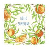 Bonjour mon rayon de soleil Reproduction procédé giclée par  Irina Trzaskos Studios