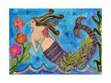 Big Diva Mermaid with Heart Reproduction procédé giclée par  Wyanne