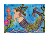 Big Diva Mermaid with Heart Giclee Print by  Wyanne