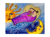 Big Diva Angel of the Sun and Moon Giclee Print by  Wyanne
