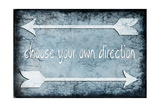 Choose Direction Stampa giclée di  LightBoxJournal