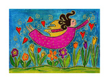 Big Diva Sprinkling Garden with Love Giclee Print by  Wyanne