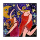 Big Diva Moon Goddesses Dancing Reproduction procédé giclée par  Wyanne