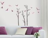 Birds in Birches Adesivo de parede