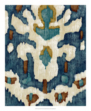 Ocean Ikat IV Premium Giclee Print by Chariklia Zarris