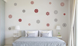 Geometric Flowers Adesivo de parede