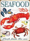 Meeresfrüchte Blechschild