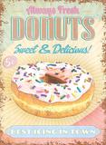 Donuts Metalen bord