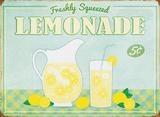 Limonade Metalen bord
