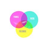 Venn Party Diagram Affiches par Bella Dos Santos