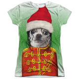 Juniors: Pets Rock- Christmas King Of Pop Womens Sublimated