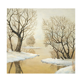 Winter Lake Square Pósters por Arnie Fisk