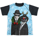 Youth: Pets Rock- Brothers Blue Christmas Black Back Shirts