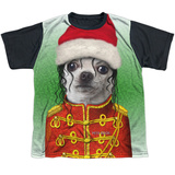 Youth: Pets Rock- Christmas King Of Pop Black Back T-shirts