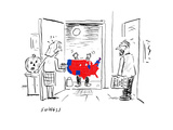 Scary Electoral Map Costume - Cartoon Premium Giclee Print by David Sipress
