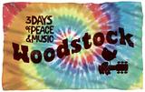 Woodstock - Tie Dye Fleece Blanket Fleece Blanket