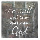 Be Still Poster por Sheldon Lewis