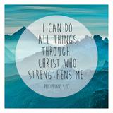 Philippians 4-13 Poster par Victoria Brown