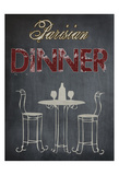 Parisian Dinner Cream Posters by Sheldon Lewis