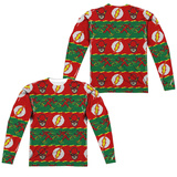 Long Sleeve: The Flash- Flashy Ugly Sweater (Front/Back) Long Sleeves