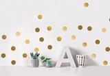 Golden dots / Pois dorés Muursticker